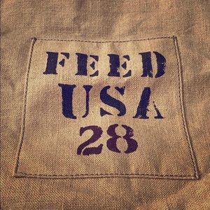 Handbags - FEED USA for Target Burlap Tote Bag